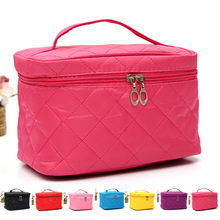 2016 New Cosmetic Box Female Quilted Professional Cosmetic Bag Women s Storage Handbag Travel Toiletry Bag
