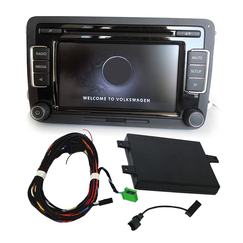 For VW Golf Jetta Passat MK53AD035190A 56D035190 RCD510 Car Radio USB Ipod Bluetooth Module+Microphone+Cable line Car Kit