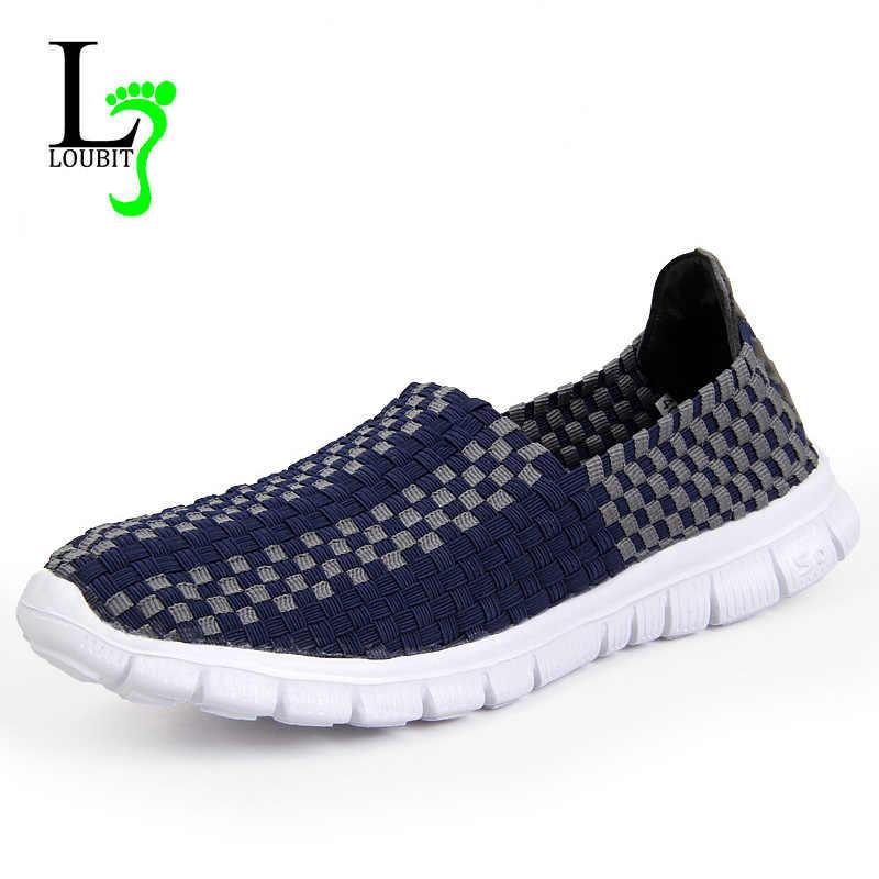 Fashion Comfortable Men Woven Shoes