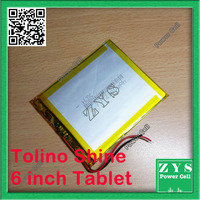 Safety Packing (Level 4) 3.7V 2 Wire Li ion battery for Tolino Shine tablet pc 7 inch High capacity