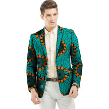 Customize dashiki suits mens african print blazers for party/wedding man brightly pattern african clothing made to measure
