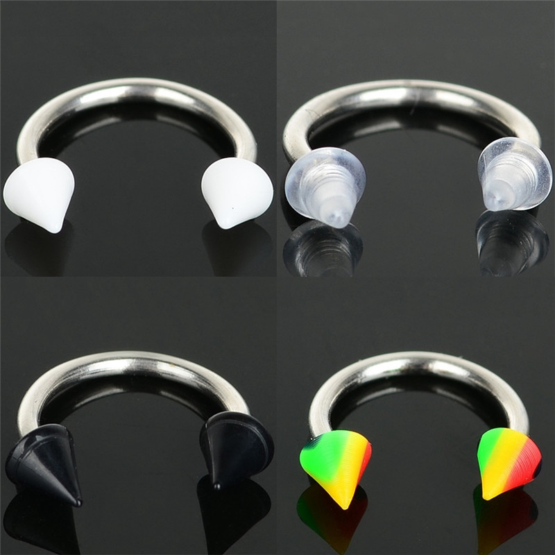 Provided 5pcs Wholesale Acrylic Conical Screw Cap U-shaped Transparent Solid White Black And Multi-color Puncture Navel Body Piercings With The Most Up-To-Date Equipment And Techniques