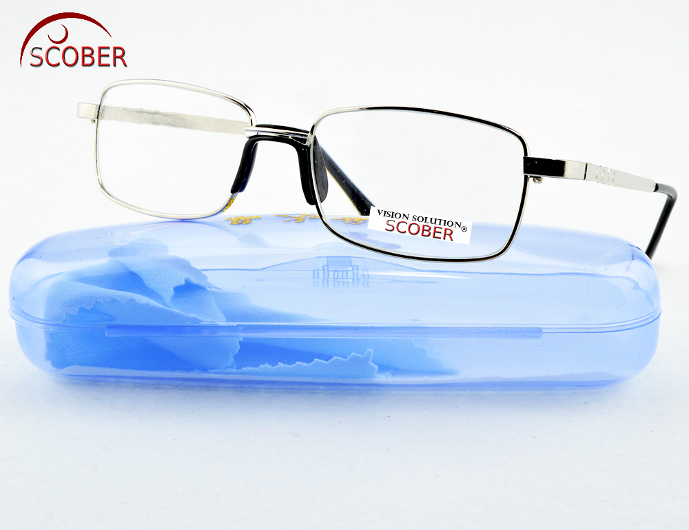 = SCOBER = !TWO PAIRS! Full-Rim Natural Crystal Lens Men Women Reading Glasses Comfort One Nose +1 +1.5 +2 +2.5+3 +3.5 +4