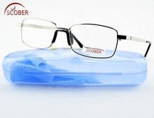 = SCOBER =. ¡Dos pares! Gafas de lectura para hombres y mujeres, lentes de cristal Natural de llanta completa, cómodas, una nariz + 1 + 1,5 + 2 + 2,5 + 3 + 3,5 + 4