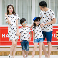 Casual Family Matching Outfits Mother And Daughter Dresses Father And Son T Shirts Mommy And Baby