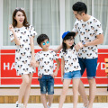 Casual Family Set Character Clothing Mother Daughter Dresses Father Son T shirts Mom and Baby Clothes Family Clothing, CP11