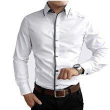 New 2017 Spring Autumn Cotton Dress Shirts High Quality Mens