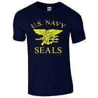 البحرية الامريكية الأختام t-الرجعية الولايات سلاح الجو المارينز يتوهم اللباس رجالي هدية أعلى 100% ٪ طبع حرف t قمصان