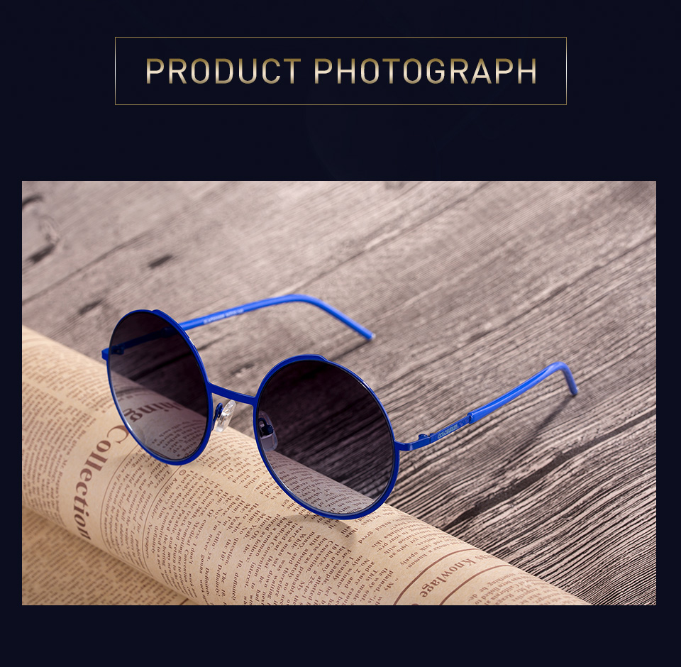 5f7295a47 Details about COLOSSEIN® Cool Retro Round Sunglasses Unisex Metal Frame  With Polarized Lens