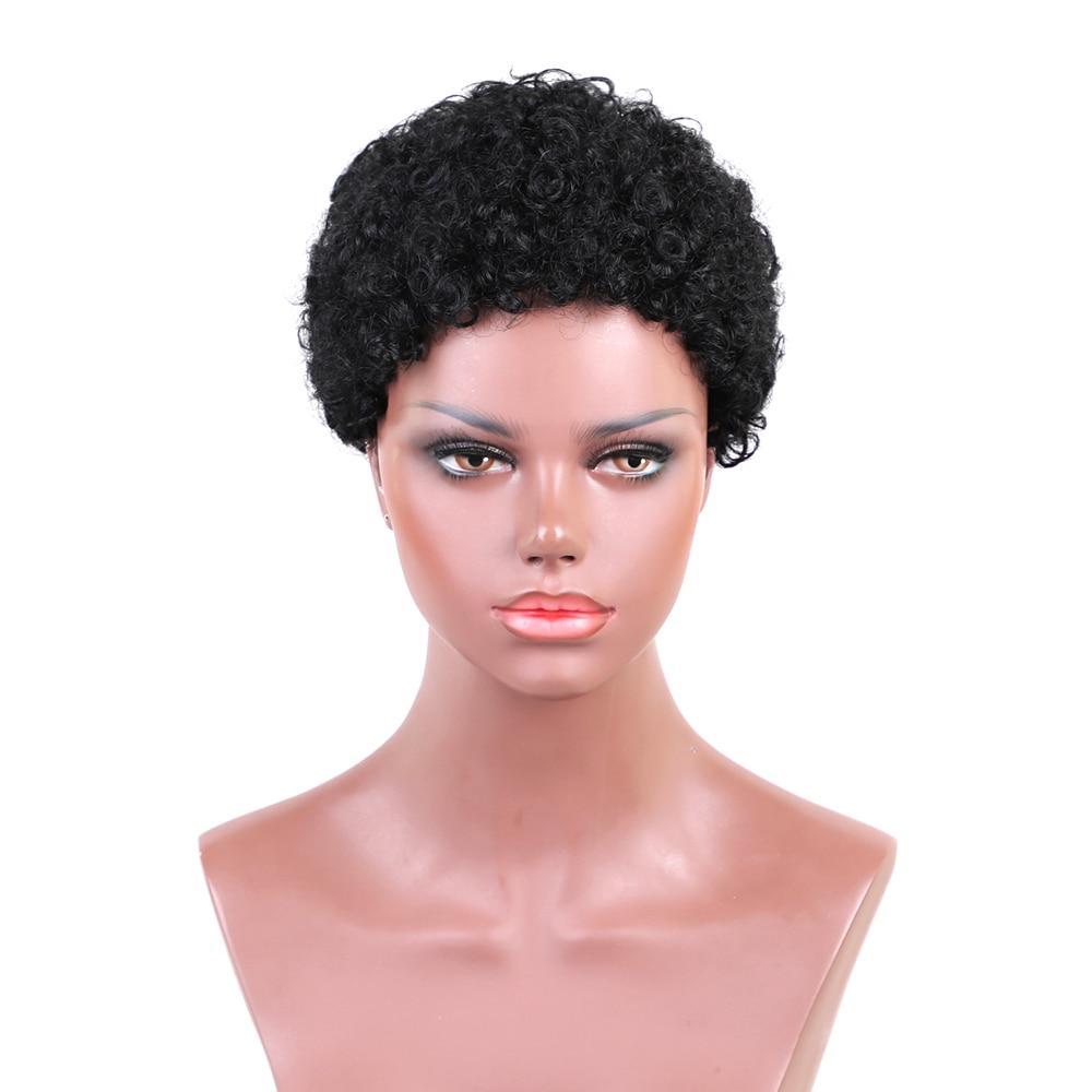 Esin blandade hår peruker 30% syntetisk hår + 70% naturligt hår - Syntetiskt hår