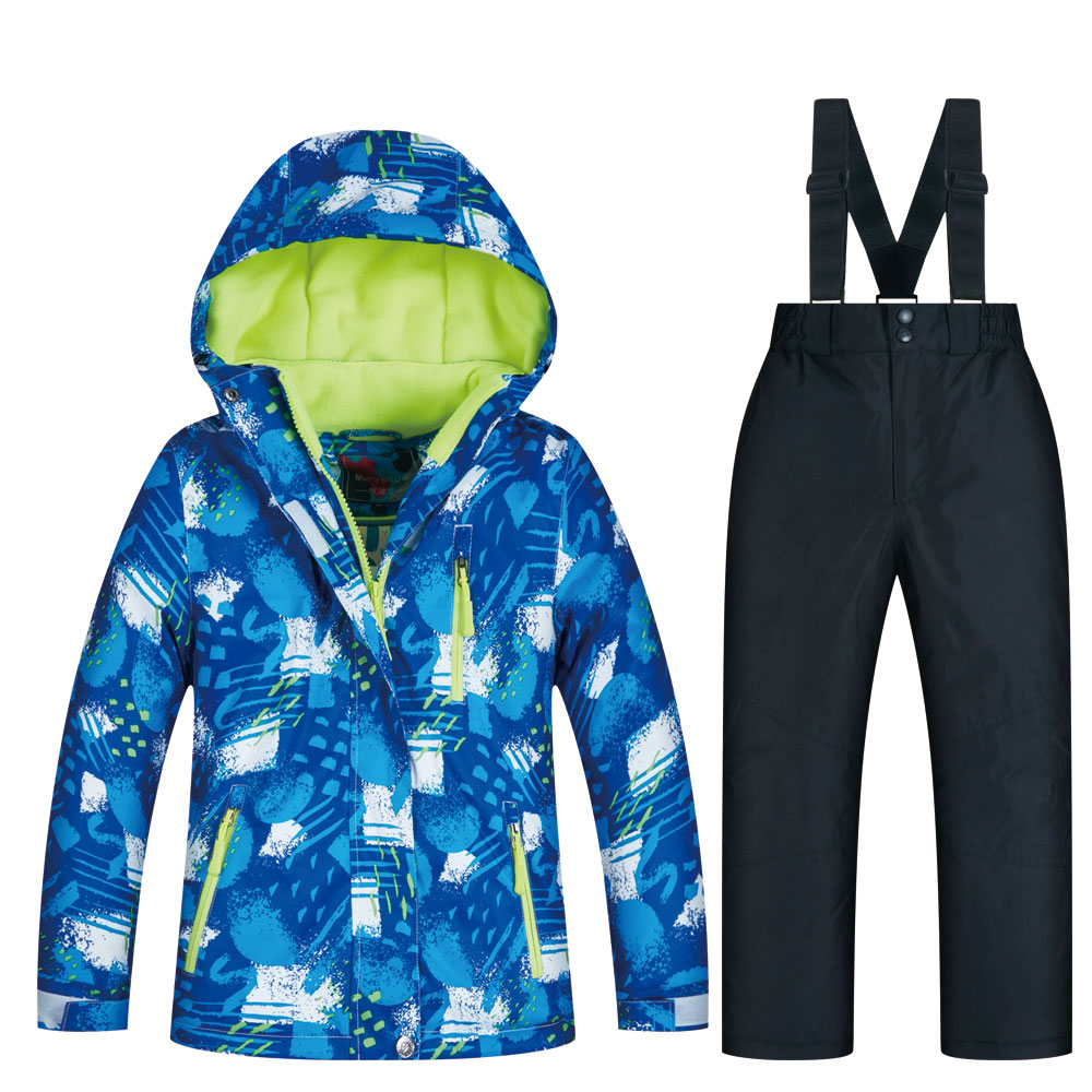 Ski Jacket And Pants Children's Brand High Quality Children Windproof Waterproof Snow Suit Winter Boy Ski And Snowboard Jackets
