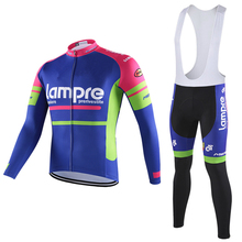 CAURMAN 2018 Lampre Long Sleeve Plus Size Cycling Jersey MTB Cycling  Clothing Set Men 27b7da109