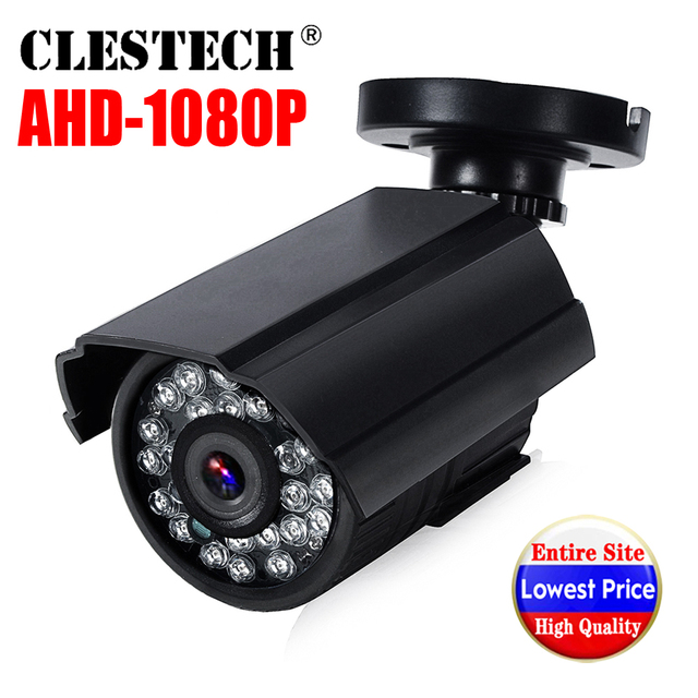 سوني Imx323 كامل AHD CCTV كاميرا صغيرة 720P/960P/1080P HD الرقمية 2MP مقاوم للماء ip66 في الهواء الطلق الأشعة تحت الحمراء للرؤية الليلية مع قوس