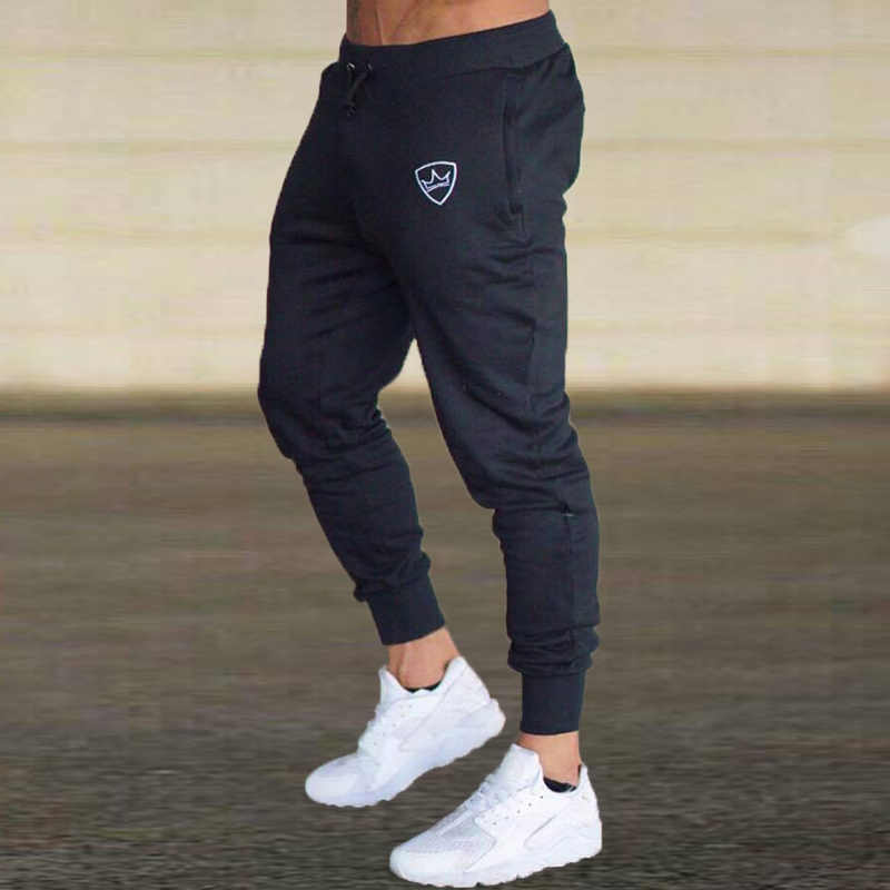 e6c9f7aac8515 Jogging Pants Men Homme Sport Pants Men Solid Joggers Bodybuilding  Sweatpants Gym Training Running Pants Jogging