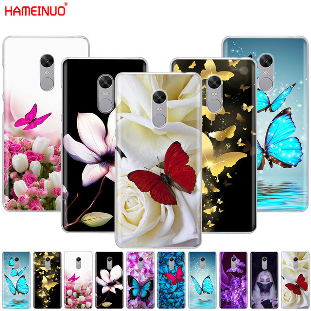 HAMEINUO butterfly on white roses flower Cover phone  Case for Xiaomi redmi 5 4 1 1s 2 3 3s pro PLUS redmi note 4 4X 4A 5A