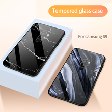 Luxury Original Marble Tempered Glass Hard Case For Samsung Galaxy s8 s9 s10 Plus Note 9 8 Shockproof Back Covers Coque