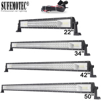 22 34 42 50 Inch 3 Row Straight Led Bar Curved Led Work Light Bar For ATV 4WD SUV Trucks 4x4 Offroad Combo Beam Driving Lamp