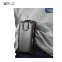 OEEKOI Genuine Leather Belt Clip Pouch Cover Case for myPhone Hammer Bolt/Q-Smart III Plus