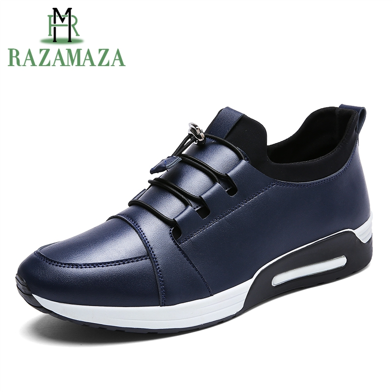 RAZAMAZA Size Fashion Mens Casual Shoes Men Lace Up Round Toe Lesiure Shoes Man Daily Sneakers Quality Fotowear Size 39-44