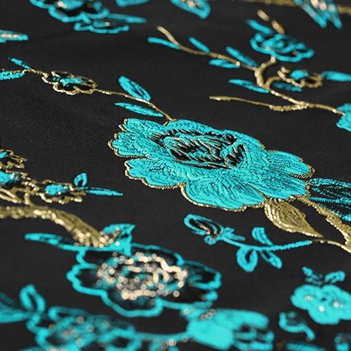 Arany vonal Sky kék madár Jacquard brókát plüss szövet ruha - Művészet, kézművesség és varrás - Fénykép 2
