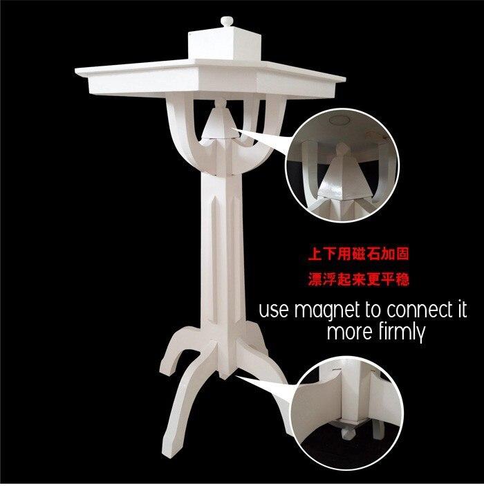 Table flottante en bois Version blanche/haute qualité/Version parfaite/tours de magie/magie de scène