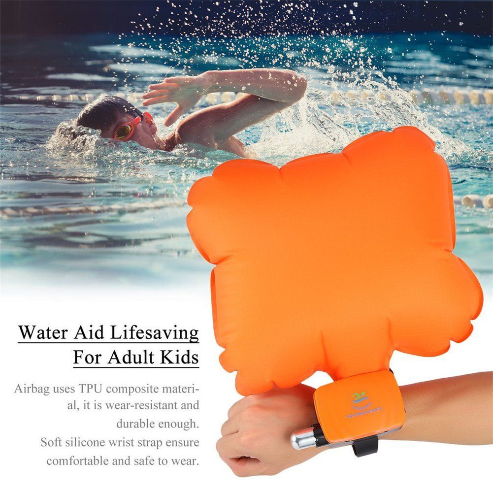 Life saving inflatable wristband