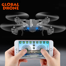 Global Drone Foldable Selfie Quadcopter Drone 2.4G 6Axis Gyro Headless Mode Mini Helicopter Dron with HD Camera