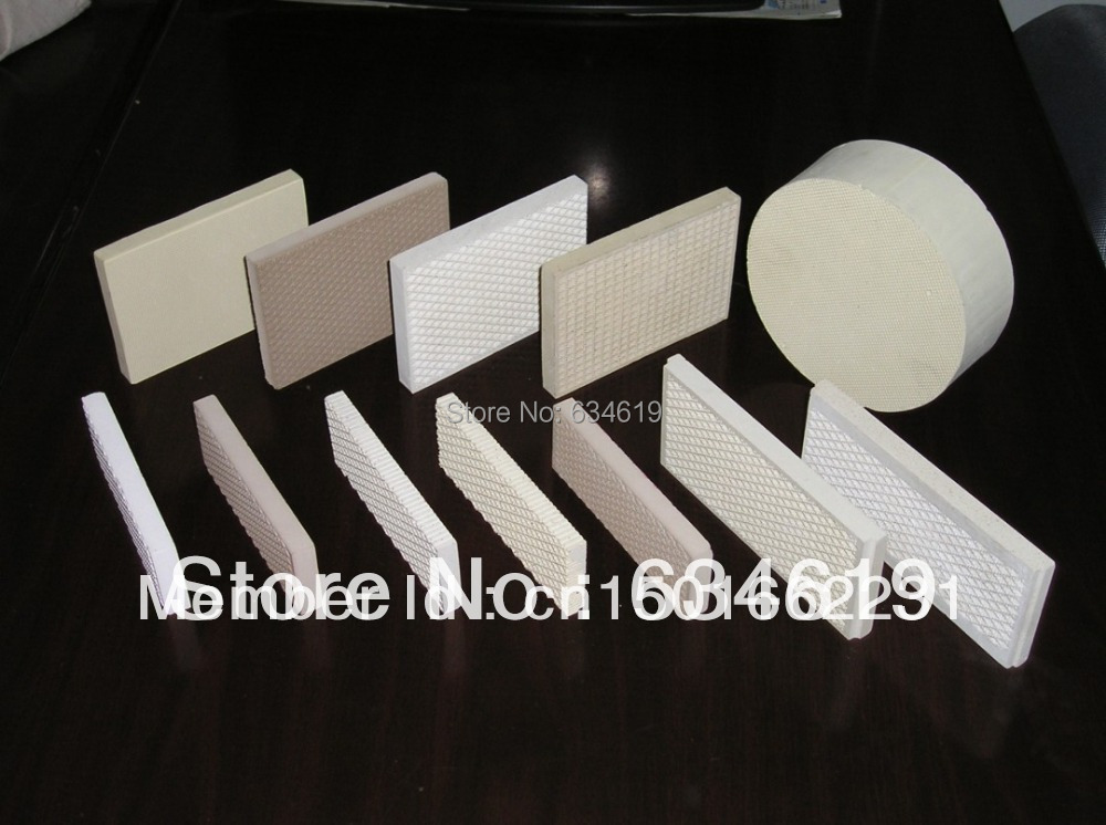 Infrared gas ceramic plate, bbq grill cordierite ceramic, catalytic infrared heat reflected plates, bbq grill accessories parts