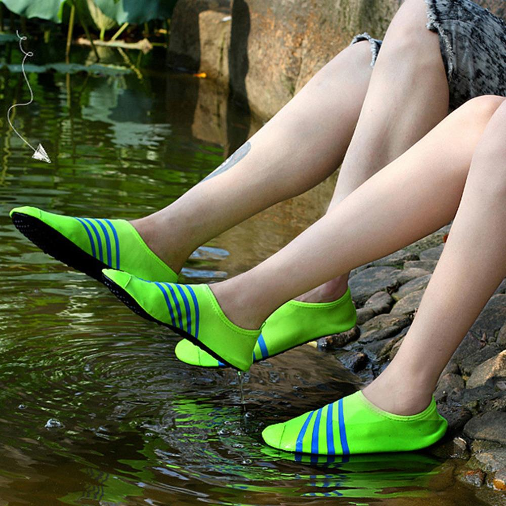 33d41c74a120 Women Skin Shoes Soft Stretch Cloth Water Shoes Aqua Socks Exercise Pool  Beach Swim Surf Multicolor popular Worldwide sale-in Women s Flats from  Shoes on ...