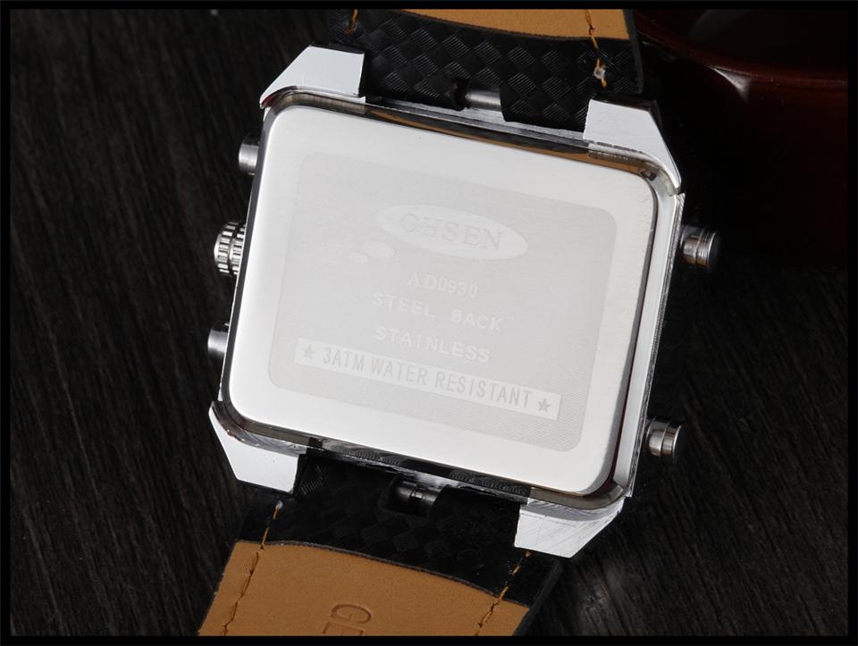 Hot Fashion OHSEN Brand Men Sports Watches Analog Casual Quartz 3ATM Waterproof Sport Military Watch Men Relogio Male Clock Gift (25)