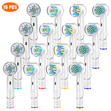 16 PCS Variety Replacement Toothbrush Heads for Oral B Toothbrush Heads with Toothbrush Head Cover Fits Oral-B Toothbrush 24 pcs variety replacement toothbrush heads for oral b toothbrush heads with toothbrush head cover fits oral b toothbrush