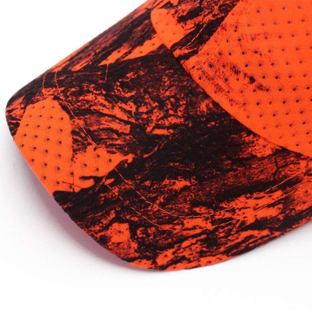 Hunting Fishing Orange Camo Cap Adjustable Camcouflage Baseball Cap (4)