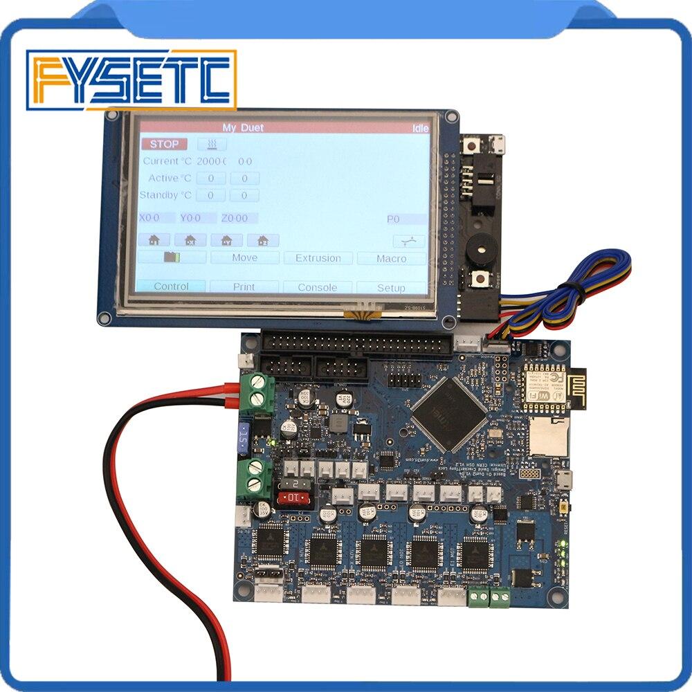 Новейшая версия дуэт 2 Wi-Fi V1.04 клонировано duetwifi Расширенный 32 бит электронная с 4,3 5 7 paneldue Сенсорный экран контроллер