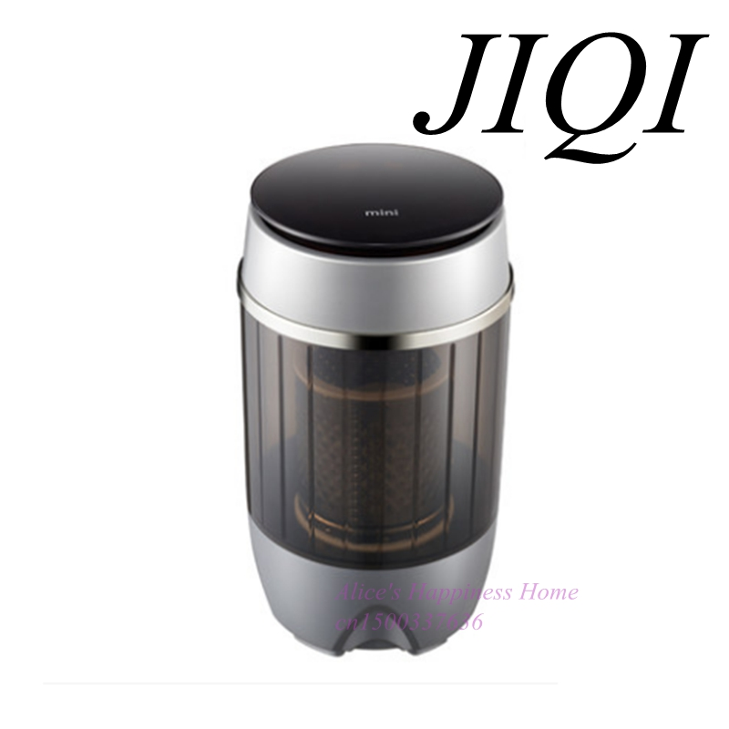 JIQI New high quality Small sized mini washing machine, household, baby, single barrel, automatic drying and dewatering edtid new high quality small commercial ice machine household ice machine tea milk shop