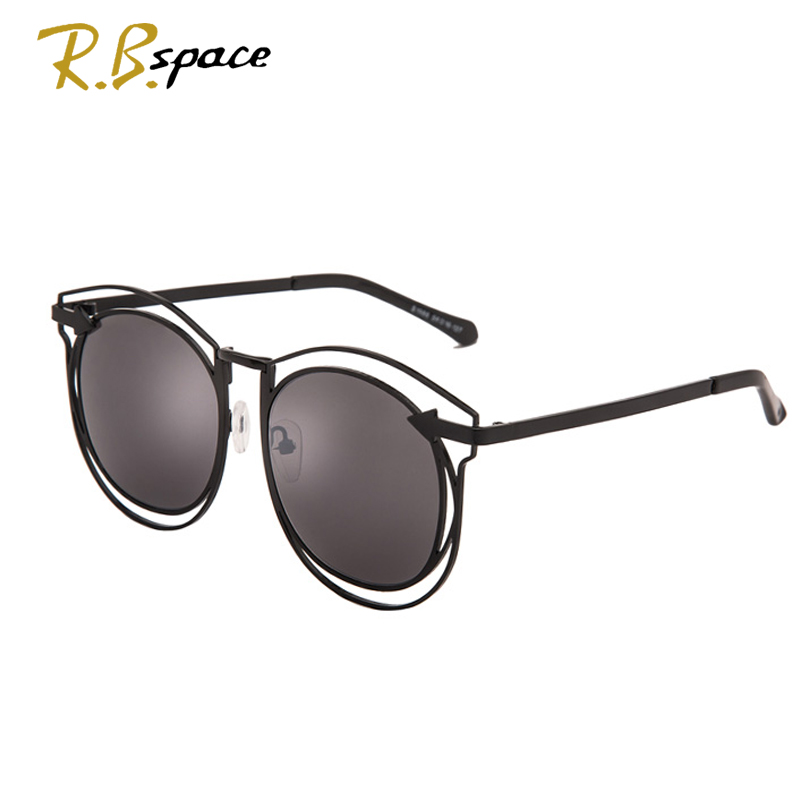 New ladies big frame sunglasses trend polarized glasses female hollow design round frame Europe and the United States Ms. style
