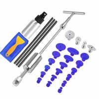 Ferramentas de pdr paintless dent repair extrator kit remoção dent martelo deslizante cola varas martelo reverso cola tabs danos causados por granizo do carro