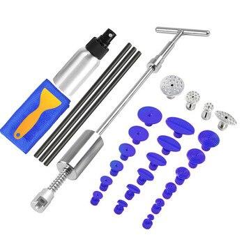 PDR Tools Paintless Dent Perbaikan Penyok Puller Kit Dent Removal Slide Hammer Lem Tongkat Reverse Hammer Lem Tab Mobil Hujan Es kerusakan