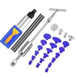 PDR herramientas sin pintura para reparación de abolladuras, Kit de extracción de abolladuras, martillo deslizante, palos de pegamento para martillo inverso, pestañas de pegamento para coche, daños por granizo