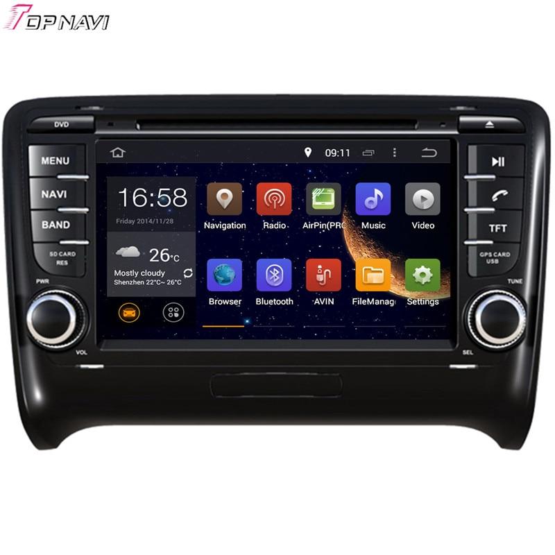 Topnavi 7'' Octa Core 4GB RAM Android 6.0 Car Radio Stereo GPS for TT 2006 2007 2008 2009 2010 2011 For Audi Audio DVD Player