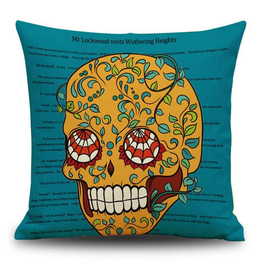 Halloween Cartoon Yellow Sweet Sugar Skull Decorative Velvet Cushion Cover  Vintage Home Decor Chair Sofa Throw Pillow Case E1145 In Cushion Cover From  Home ...