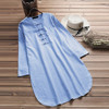 Plus Size 5XL Womens Tops and Blouses 2018 Harajuku Linen Vintage Long Sleeve Long Shirts Tunic Ladies Top Woman Clothes  3