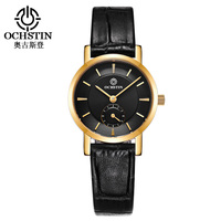 OCHSTIN Watch Women Durable Leather Band Waterproof Quartz Watches Small Size Fashion Casual Lady Wristwatch sub Second Dial