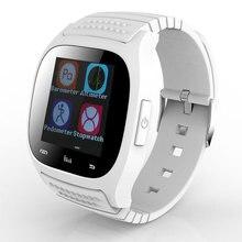 Bluetooth Smart Uhr M26 smartwatch Mit Led-anzeige Barometer Alitmeter Schrittzähler für Android IOSPK GV18 DZ09 A1 GT08 W8