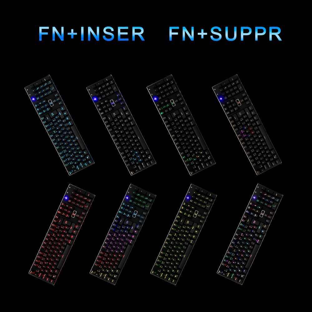 Z-88 клавиатура с подсветкой Eagle эргономичный дизайн французские программируемые синие переключатели алюминиевая клавиатура со светодиодной подсветкой