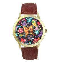 2017 Dignity Vogue Butterfly Sample Leather-based Band Analog Quartz Vogue Watches AP 11