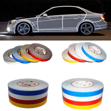 Car styling DIY 3M Motorcycle bicycle Reflective Stickers reflective strip Automobile Warning Tape Change Color Creative sticker