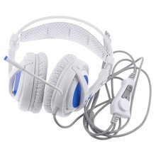 Skilled USB Gaming Headphones Over-Ear Recreation Headset 7.1 Encompass Sound Earphone Wired Mic for Video games SA-A6