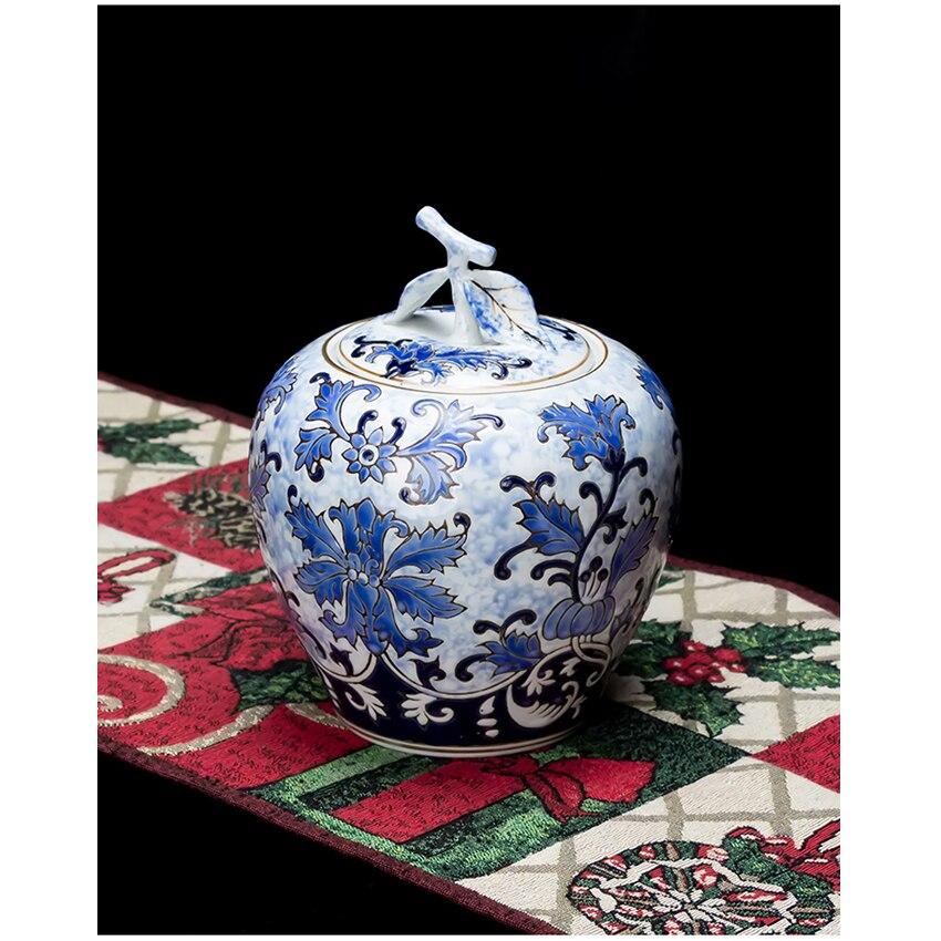 Ev ve Bahçe'ten Şişeler, Kavanozlar ve Kutular'de Çin tarzı Jingdezhen Seramik şişeler toz geçirmez kapak depolama kavanoz tatlı şeker kavanozları çay caddy vazo morden ev düğün dekor'da  Grup 1