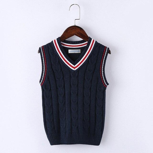 Children Vests Sweaters Vest Children Top Quality Sleeveless Sweaters Kids  Boys Pullover Knitting Vest Coat B299