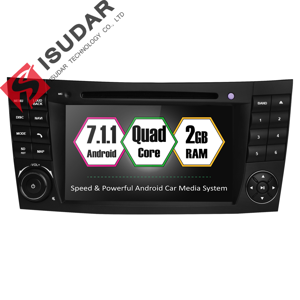 Isudar Car Multimedia player Android 7.1.1 GPS 2 Din Autoradio For Mercedes/Benz/E-Class/W211/E200/E220/E300/E350 Quad Core Wifi